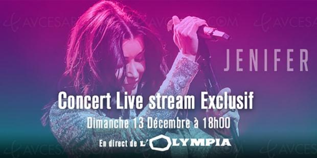 Jenifer en direct de l'Olympia le 13 décembre (concert livestream)
