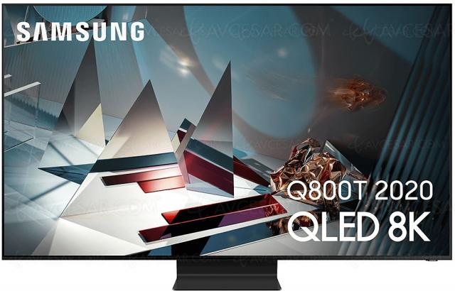Black Friday 2020 > TV QLED Ultra HD 8K Samsung QE65Q800T à 2 499 € soit ‑1 500 € ou ‑38% de remise