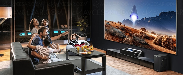 Hisense 100L5F Laser TV 100'' (254 cm), un téléviseur géant dans le salon pour 2 990 €