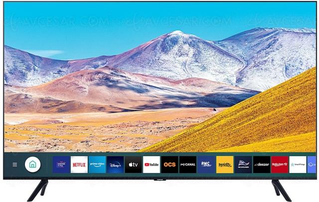 Black Friday 2020 > TV Ultra HD 4K Samsung UE82TU8005 à 1 490 €, soit ‑25% de remise