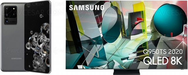 Black Friday 2020 > TV QLED 8K Samsung QE75Q950T + Galaxy S20 Ultra à 5 990 €, soit environ ‑2 890 €
