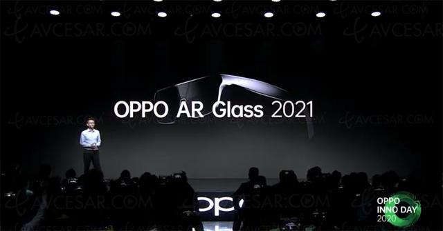 Concept lunettes connectées Oppo AR Glass 2021