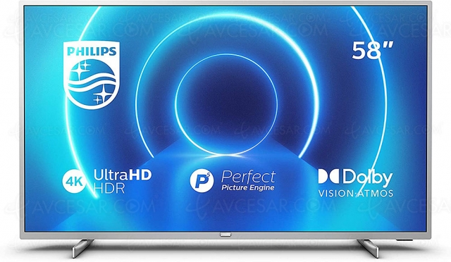 Black Friday 2020 > TV LED Ultra HD 4K Philips 58PUS7555 à 429 € soit ‑170 € ou ‑29% de remise