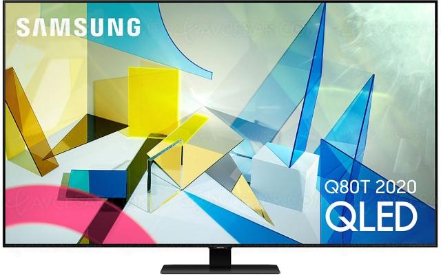 Black Friday 2020 > TV LED Ultra HD 4K Samsung QE65Q80T à 1 349 €, soit ‑641 € ou ‑33% de remise