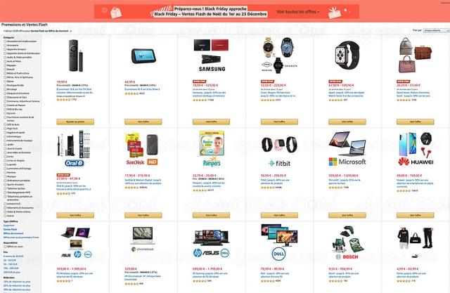 Black Friday 2020 Amazon, 6 829 offres jusqu'à ‑92%