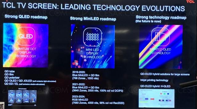 CES 21 > TCL : 5 TV Mini LED Vidrian dont 3 TV Ultra HD 8K ?