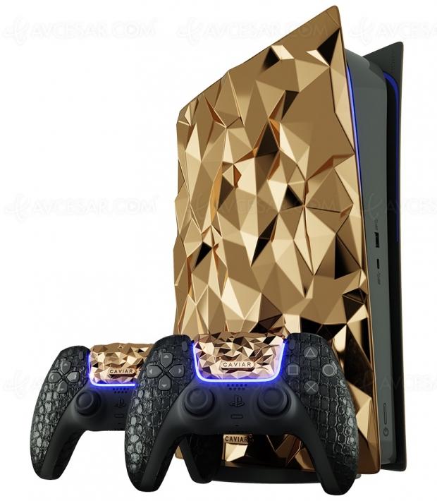 20 kg d'or pour unePS5 customisée, c'est normal en Russie