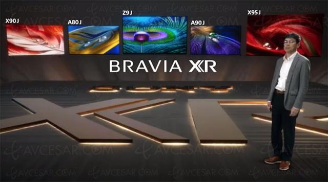 CES 21 > Gamme TV Sony 2020 Bravia XR : 2 TV Ultra HD/8K, 25 Ultra HD/4K dont 7 Oled