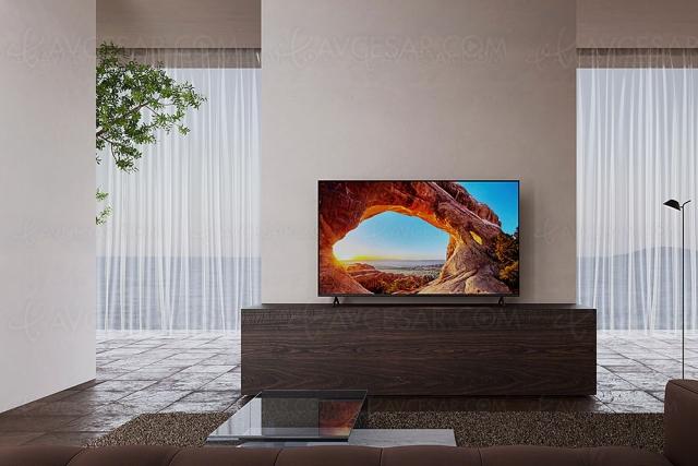 CES 21 > TV LED Ultra HD 4K Sony X85J, 43'', 50'', 55'', 65'', 75'' et 85'', Google TV, HDMI 2.1…