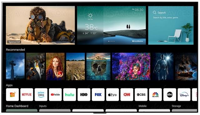 CES 21 > Smart TV LG 2021 : WebOS 6.0 et nouvelle Magic Remote dévoilés