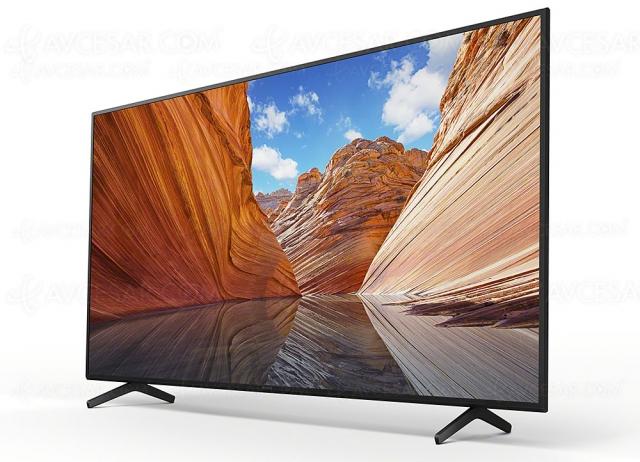 CES 21 > TV LED Ultra HD 4K Sony X80J, 43'', 50'', 55'' et 65'' avec Google TV