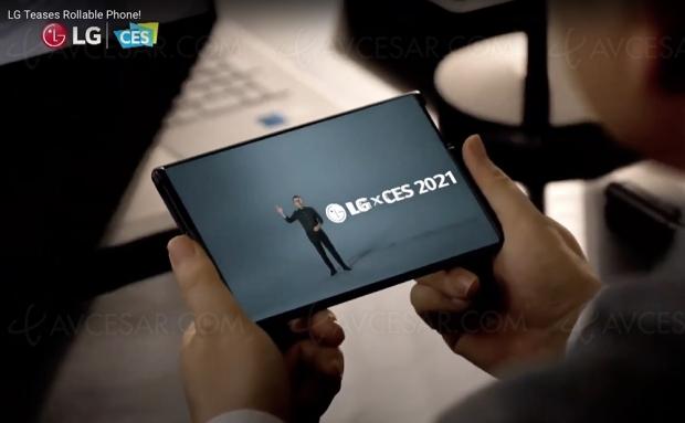 CES 21 > LG Rollable, smartphone à écran extensible !
