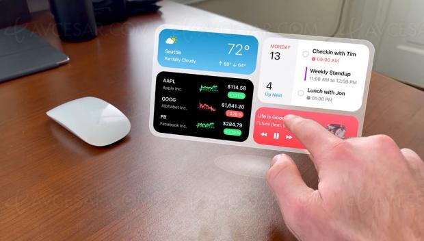 Incroyable bureau virtuel Apple Glass « macOS reality » (concept)