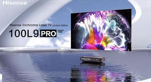CES 21 > Laser TV Hisense 100L9 TriChroma Ultra HD/4K HDR, 100% Rec.2020, 2 800 lumens…