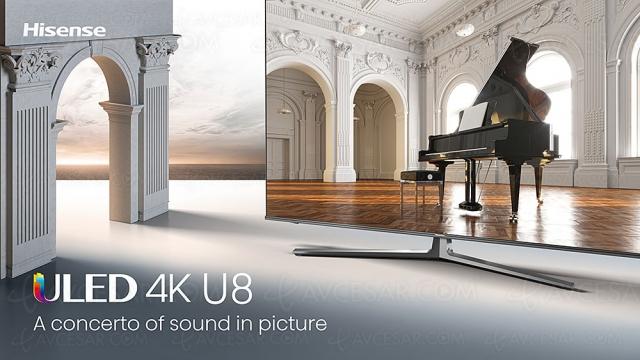 CES 21 > TV QLED Ultra HD 4K Hisense U8GQ, 55'' et 65''