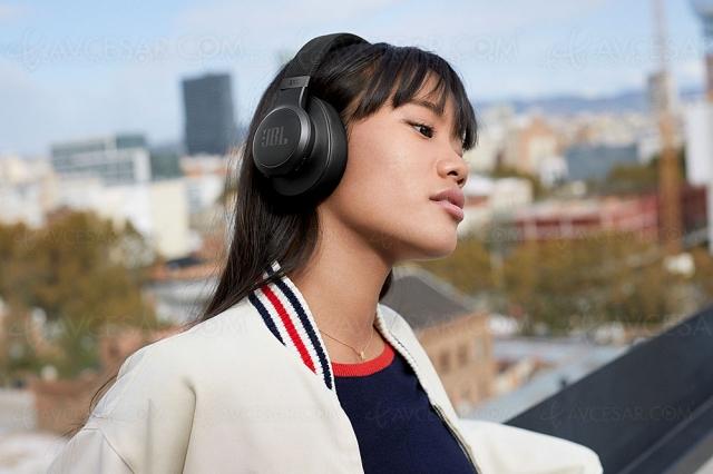 JBL Live 660NC, casque Bluetooth circumaural avec réducteur de bruit adaptatif