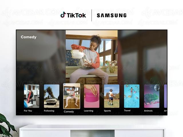 TikTok disponible sur les Samsung Smart TV et vidéoprojecteurs The Premiere