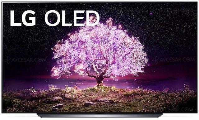 TV Oled Ultra HD 4K LG C1 : 48'', 55'', 65'', 77'' et 83''