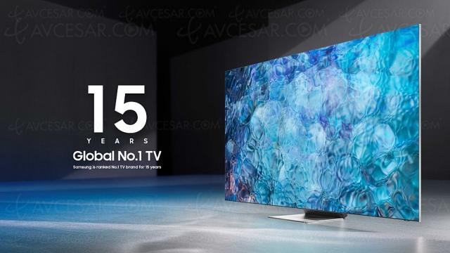 Samsung, leader mondial du marché TV 2020 pour la 15e année consécutive