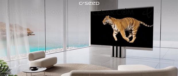 Incroyable : le premier téléviseur Micro LED pliable 165