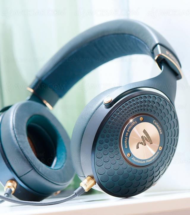 Casque Hi‑Fi Focal Celestee, bleu et luxueux