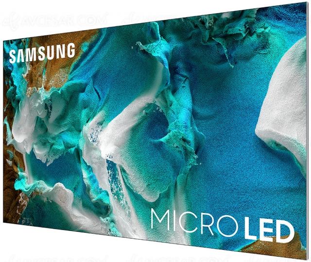 TV Micro LED Samsung Ultra HD 4K : 110'' et 99'' début 2021, 76'' et 88'' à l'automne