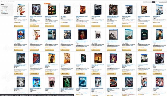 Promotion Amazon, deux 4K Ultra HD, Blu‑Ray, DVD achetés, un 3e offert parmi 606 titres