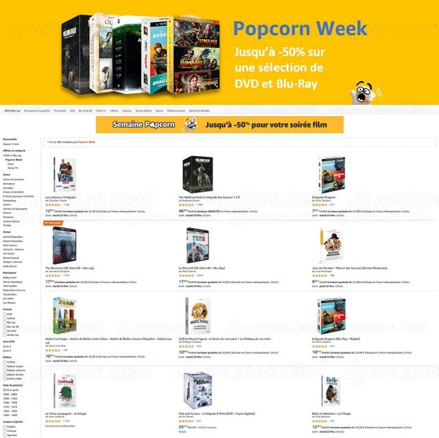 Bons plans Amazon, jusqu'à ‑56% sur 402 films 4K Ultra HD, Blu‑Ray et DVD