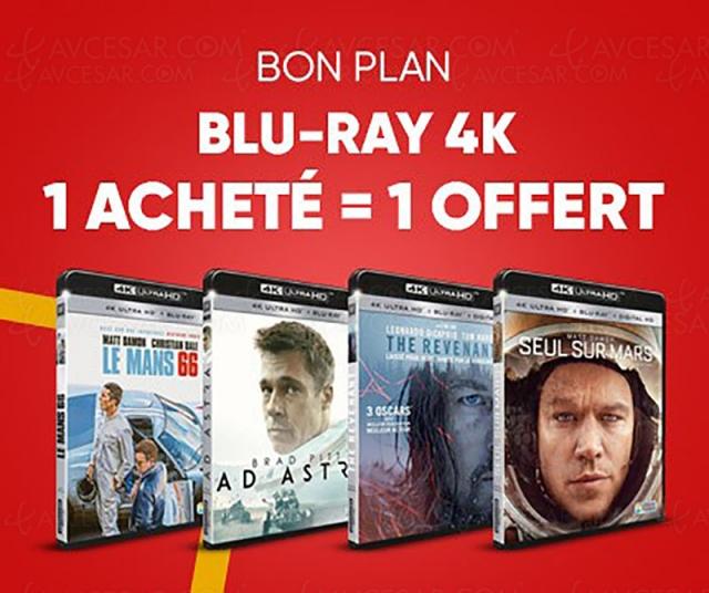 Promotion Fnac, 1 titre 4K Ultra HD acheté, 1 offert parmi 40 titres