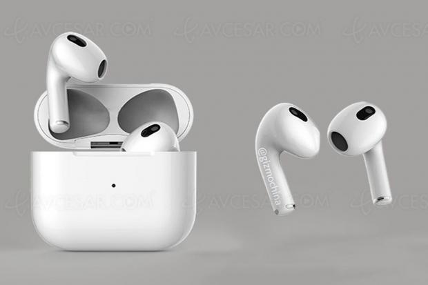 Écouteurs Apple AirPods 3, images en fuite