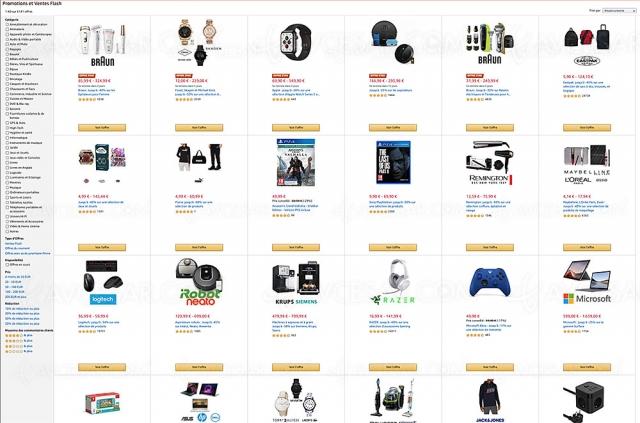 Amazon, 5 907 ventes flash et promotions jusqu'à ‑90%