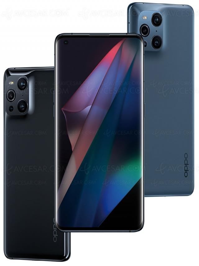 Smartphone Oppo Find X3 Pro, 5G et objectif couleurs