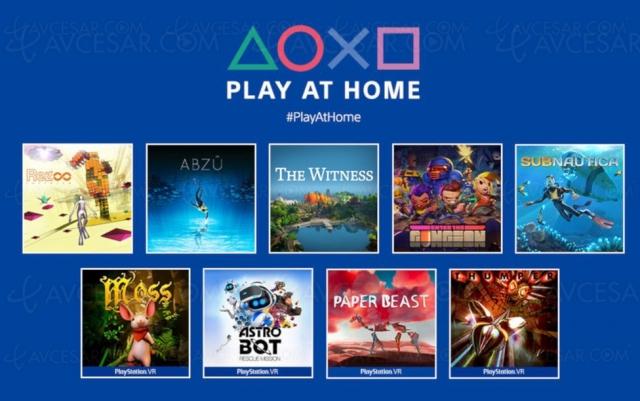 10 jeux PS4/PS VR gratuits avec Play at Home le 26 mars