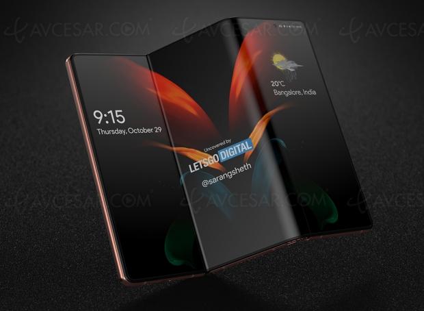 Smartphone Samsung pliable en trois cette année ?