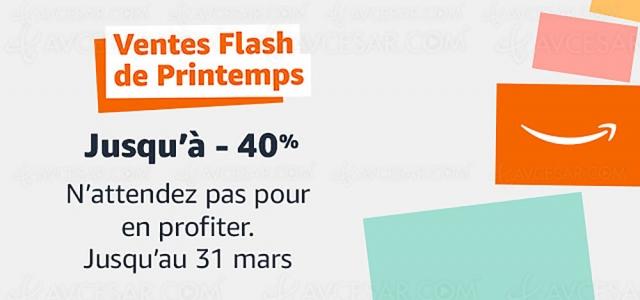 Bon plan ventes flash de printemps Amazon, 9 892 offres jusqu'à ‑59%
