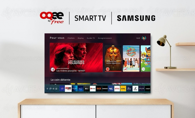 Application OQEE by Free disponible sur Smart TV Samsung