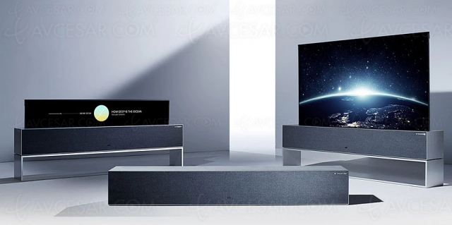 LG OLED65R1, TV enroulable Ultra HD 4K, 100 000 € en France