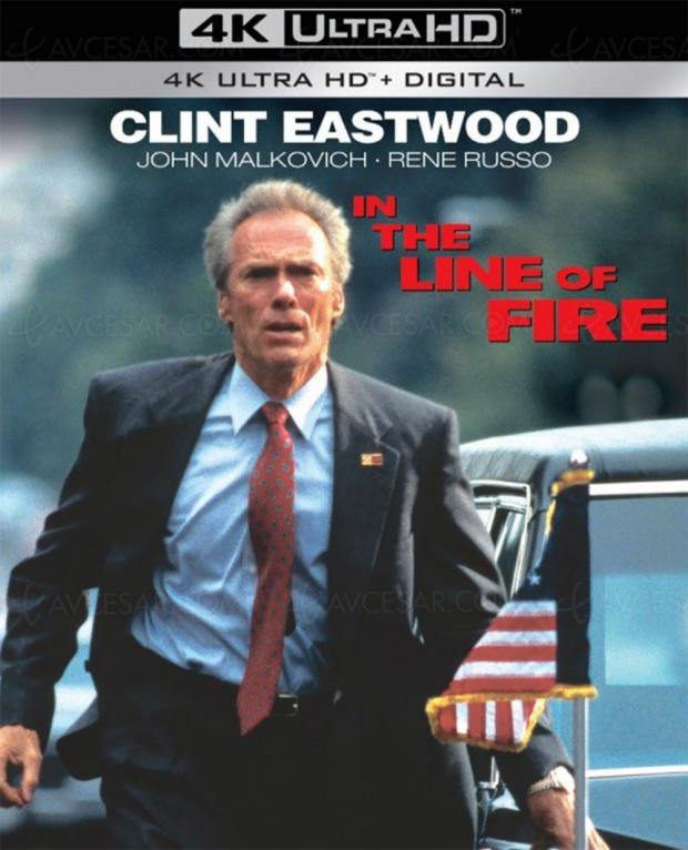 Dans la ligne de mire, Clint Eastwood et John Malkovich reviennent en 4K Ultra HD