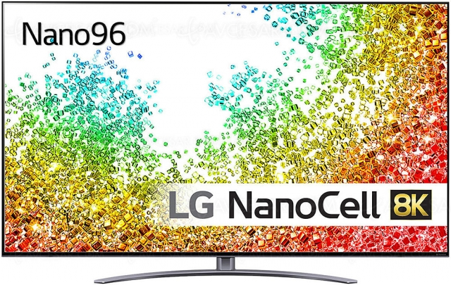 TV LED NanoCell Ultra HD 8K LG NANO96 : Alpha 9 Gen 4, HDMI 2.1, HDR Dolby Vision…