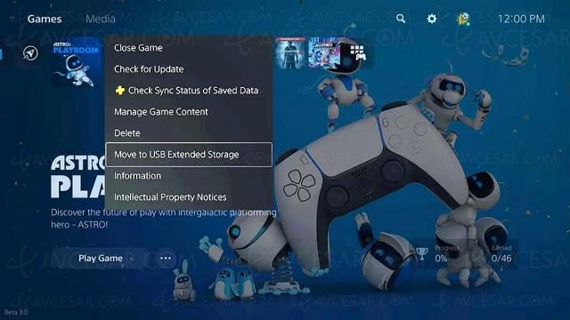 PlayStation 5, stockage des jeux via clé et/ou disque dur USB