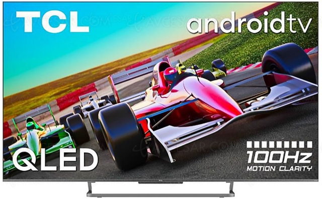 TV QLED Ultra HD 4K TCL C728/C729 : 100 Hz, HDR Dolby Vision, HDMI 2.1, Android TV 11.0…