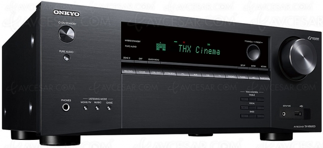 Onkyo TX‑NR6100, ampli 7.2, HDMI 2.1, 8K, Dolby Atmos 5.2.2, HDR Dolby Vision, HDR10+, AirPlay 2, DTS Play‑Fi…
