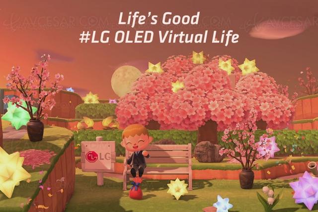 Visitez les îles LG Oled sur console Switch dans Animal Crossing: New Horizons