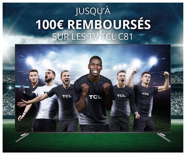 Offre de remboursement TV Ultra HD 4K TCL C81, jusqu'à 100 € remboursés