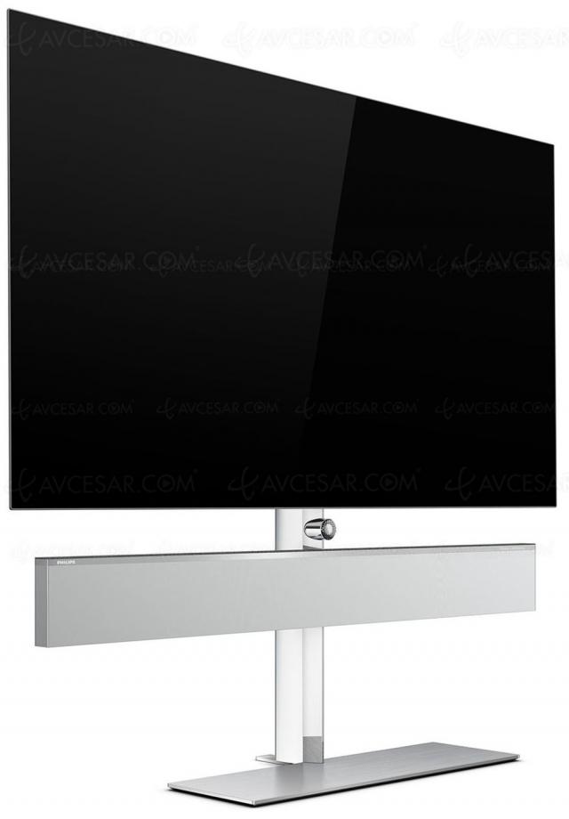 TV Oled Philips OLED986, P5 Gen5, Ambilight 4 côtés et barre de son B&W