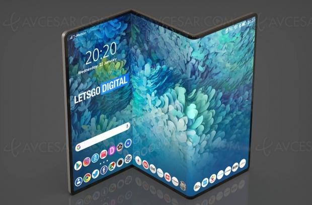 Tablette Samsung pliable en trois l'année prochaine ?