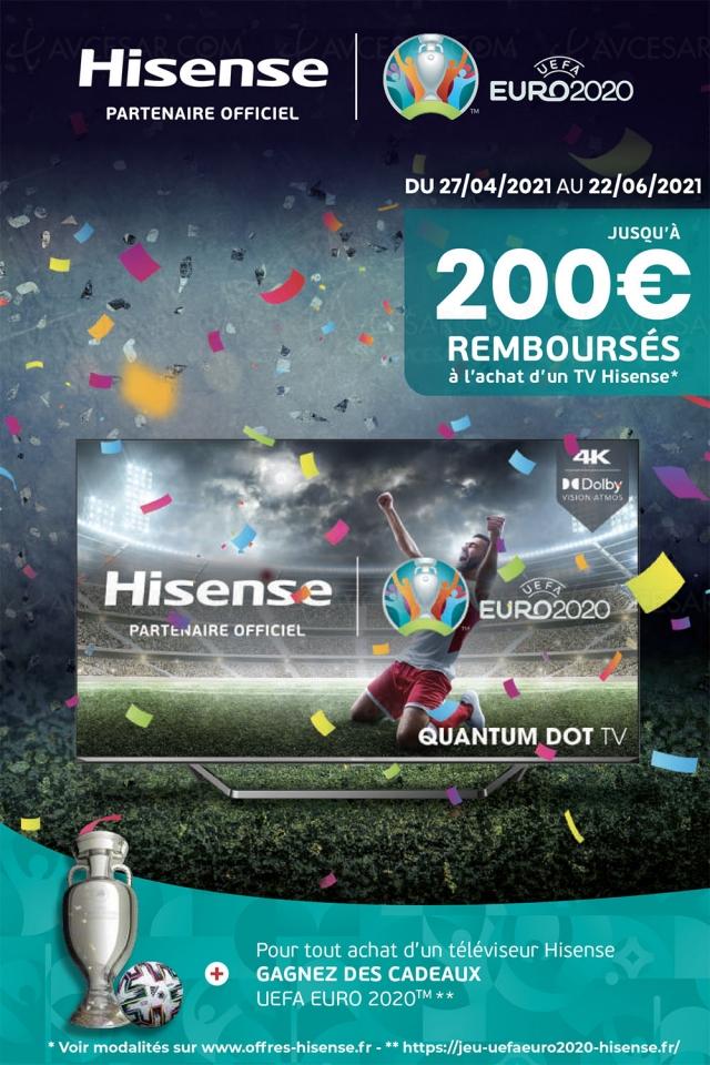 Offre de remboursement TV Ultra HD 4K Hisense, jusqu'à 200 € remboursés
