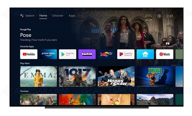 Nouvelle interface Google TV sur les Smart TV Sony 2016 à 2020