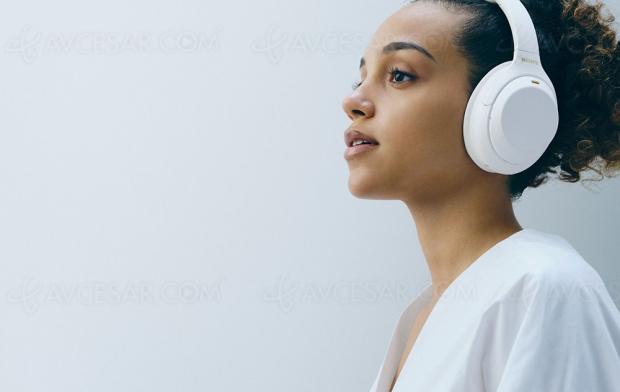 Casque Sony WH‑1000XM4, édition limitée Silent White Fnac