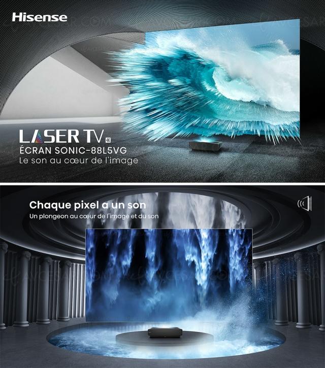 Laser TV Hisense 88L5VG (88'') : innovations technologiques pour un vrai mur image et son